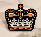 """Orthodox"" Enamel Metal Lapel Badge (Crown)"